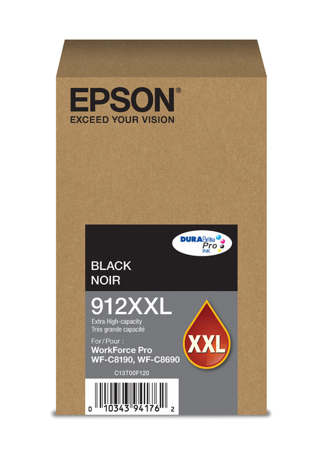 Epson WorkForce Pro T912  Extra High Capacity Black Ink for WF-C8190/C8690