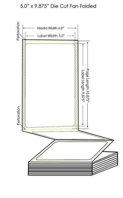 "GP-C831 5"" x 9 7/8"" BS5609 Chemical Labels 600/Carton (805027)"