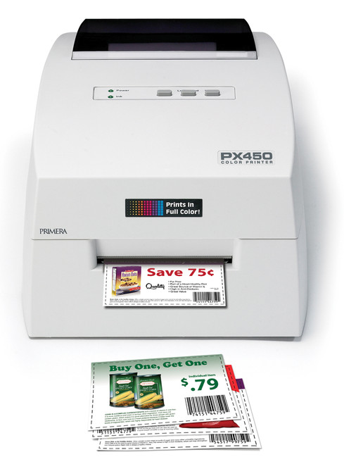 Print your color coupons on demand with the Primera PX450 POS Color Printer