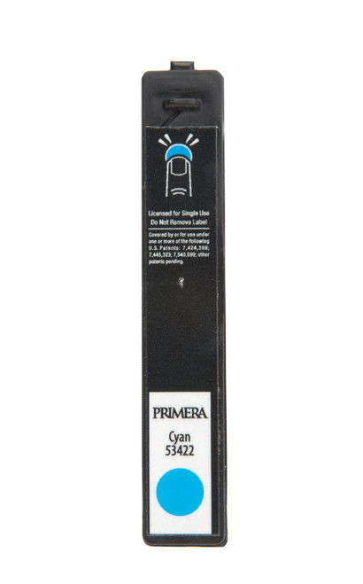 Primera cyan dye based ink cartridge for the LX900 color label printer