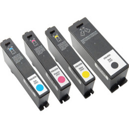Primera Multi-Pack includes one of each of the following ink cartridges (Dye ink based black, cyan, magenta and yellow) for the LX900 color label printer