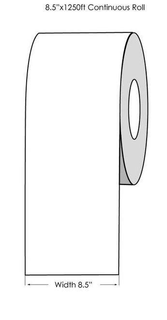 "Primera CX1200 White Matte Label Roll, 8.5"" x 1250 feet"
