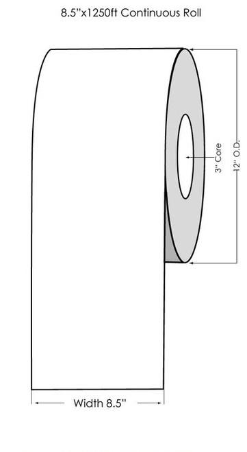 "Primera CX1200 Premium Clear Gloss Polyester Label Roll, 8.5"" x 1250'"