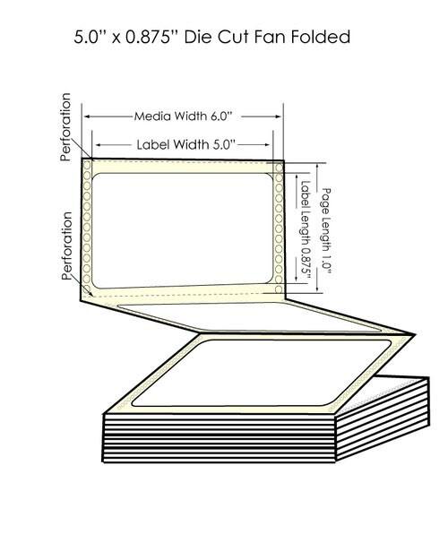 """Epson GP-C831 5"""" x 7/8"""" Chemical Labels - 6,000/Carton"""