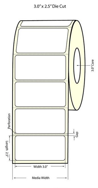 "Primera LX400 3"" x 2.5"" Matte BOPP Labels | Primera LX400 Labels | Labels"