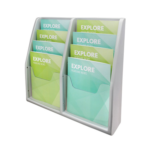 Deflecto Deluxe Literature Display, 8 Magazine Size Pockets