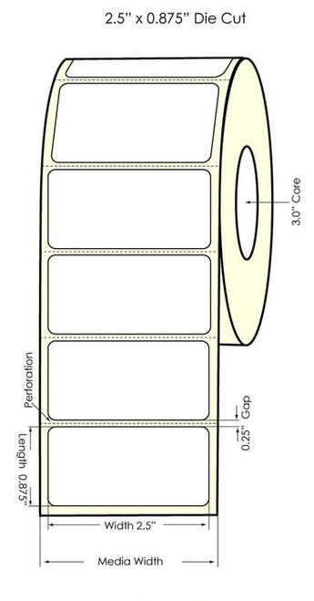 Primera LX900 2.5 x 0.875 High Gloss Labels | 931017