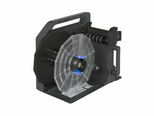 add the Epson TM-C7500 rewinder to your printer so that you can print roll to roll
