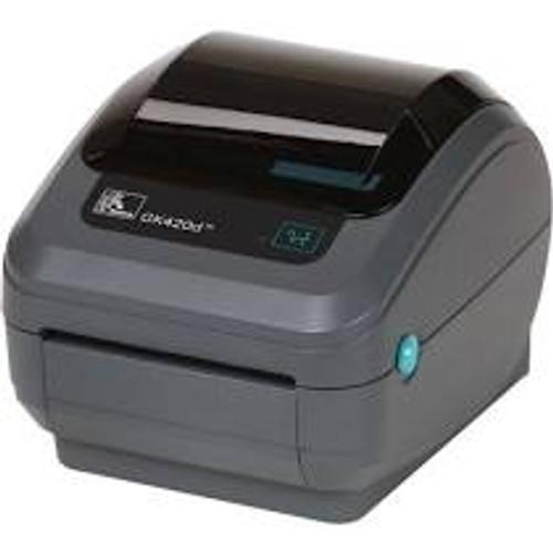 """Zebra GK420T 203 dpi Desktop Thermal Transfer Label Printer 4""""/USB/Dispenser (ZEB-GK42-102511-000)"""