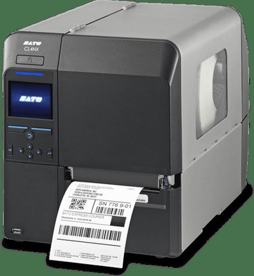 SATO CL424NX 609 dpi Thermal Transfer Label Printer w/ Dispenser/Rewinder/RTC/HF RFID