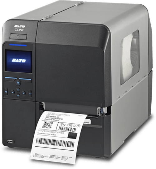 SATO CL412NX 305 dpi Thermal Transfer Label Printer w/ Dispenser/Rewinder/WLAN