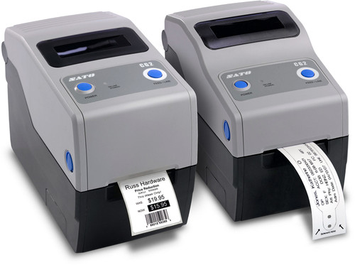 SATO CG208DT 203 dpi Direct Thermal Label Printer w/ USB/LAN/Dispenser