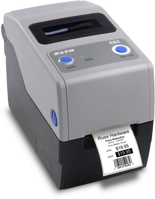SATO CG212TT 305 dpi Thermal Transfer Label Printer w/ USB/RS232C/Dispenser