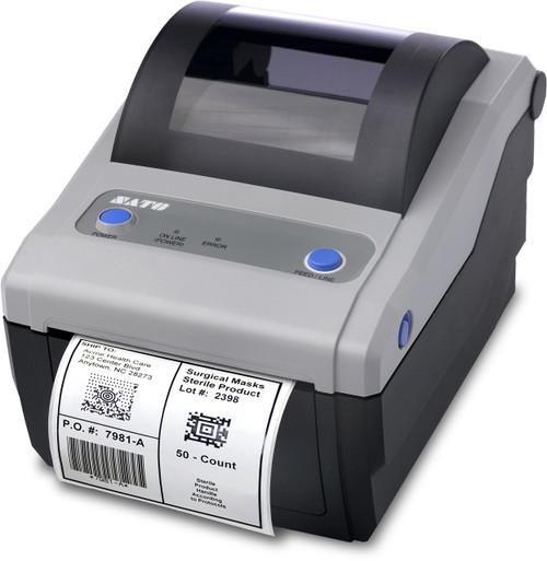 SATO CG408DT 203 dpi Direct Thermal Label Printer w/ USB/Parallel/Dispenser