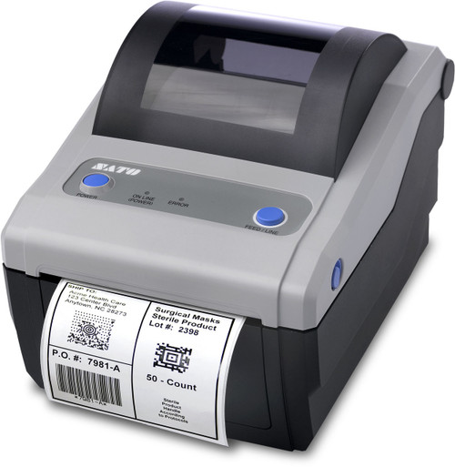 SATO CG408DT 203 dpi Direct Thermal Label Printer w/ USB/RS232C/Cutter