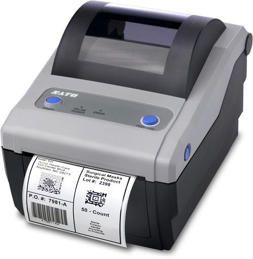 SATO CG408DT 203 dpi Direct Thermal Label Printer w/ USB/RS232C/Dispenser (SATO-WWCG08231)