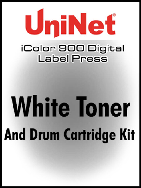 iColor 900 Fluorescent White toner and drum cartridge kit, STR yield