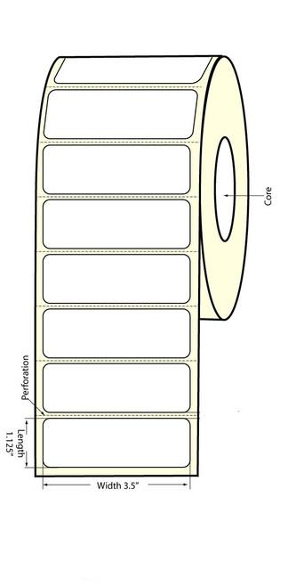 """Epson TM-C3400 3.5""""x1.125"""" Matte BOPP Labels"""