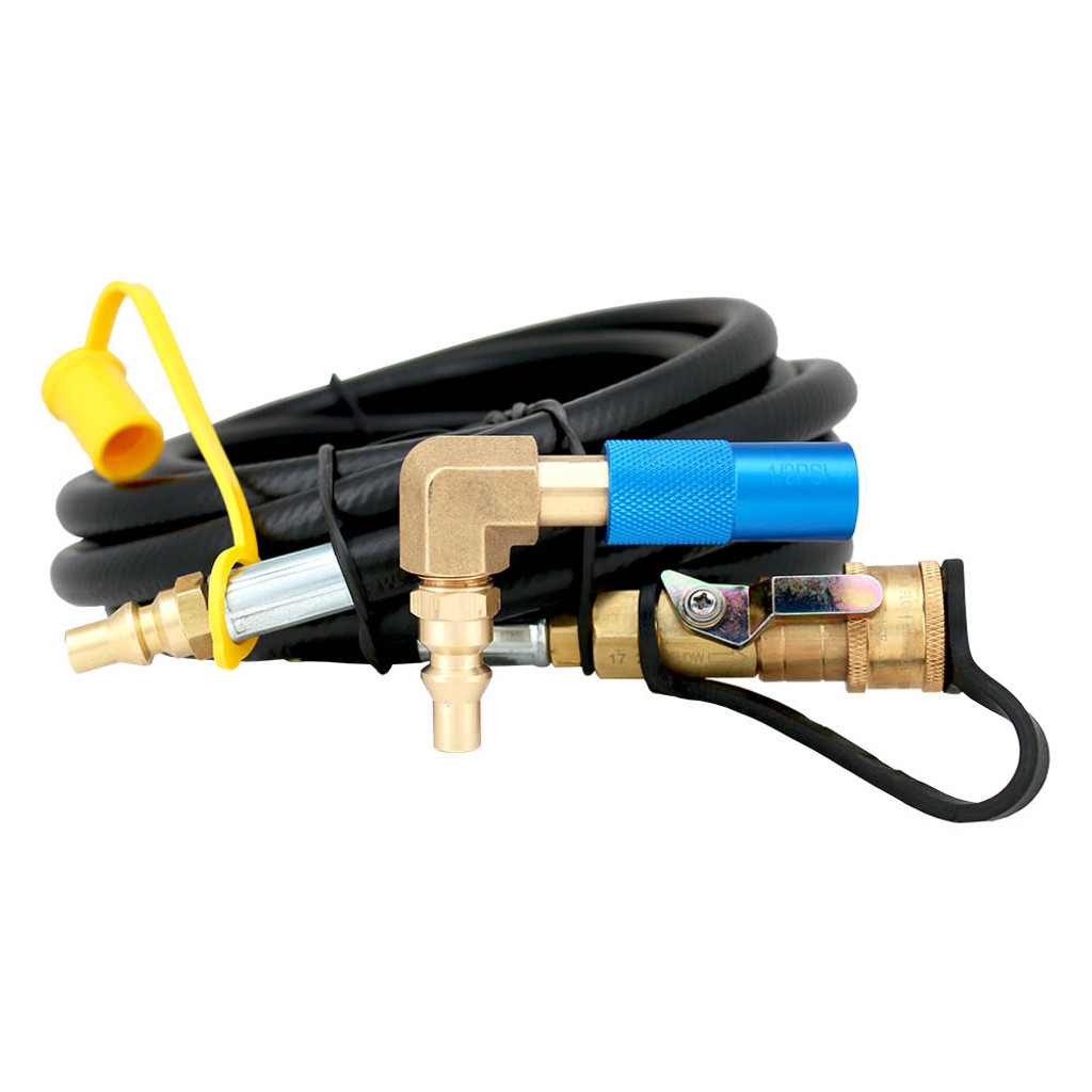 RV Quick-Connect Kit Compatible with Coleman Roadtrip LXE, LXX, LX - 12 Ft. M/F QC Hose
