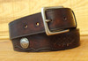 Hand-Tooled Leather Belt with Genuine Buffalo Nickels
