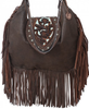 Double J Saddlery Brown Bomber Hobo Bag