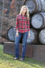 Women's Wrangler Red Brown Plaid Flannel Shirt