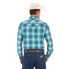 Men's Wrangler Turquoise/White Logo Longsleeve Shirt