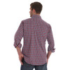 Men's Wrangler Wrinkle Resist Red and Blue Plaid Long Sleeve