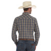 Men's Wrangler Blue and Yellow Plaid Long Sleeve