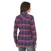 Women's Wrangler Purple and Teal Plaid Shirt
