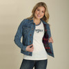 Women's Wrangler Cropped Blanket Lined Denim Jacket