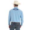 Men's Wrangler Blue Plaid Ford Logo Shirt