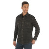 Men's Wrangler Retro Black and Tan Long Sleeve