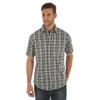 Men's Wrangler Retro Black Plaid Short Sleeve Shirt