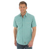 Men's Wrangler Retro Green Short Sleeve Shirt