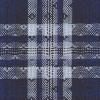 Men's Wrangler Blue and White Plaid Long Sleeve Shirt