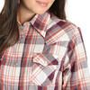 Women's Wrangler Burgundy and Coral Long Sleeve