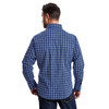 Men's Wrangler Wrinkle Resist Blue and Navy Plaid Long Sleeve Shirt
