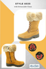 "Women's Barbo Flipgripz ""Jill""  Hazelnut Lace and Zipper Winter Boot"