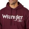 Men's Wrangler Maroon Hoodie