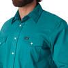 Men's Wrangler Advanced Comfort Work Shirt Turquoise