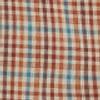 Men's Wrangler Khaki Plaid Wrinkle Resistant Western Shirt