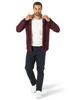 Men's Wrangler Sherpa Lined Dark Red Plaid Flannel Shirt