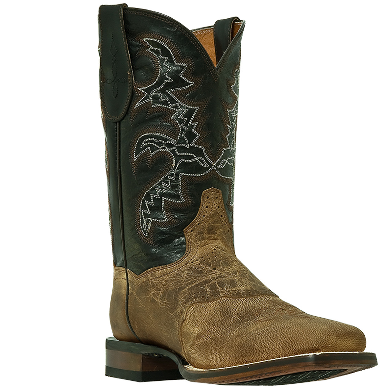 6d72a8dcc73 Men's Dan Post Cowboy Certified Square Toe Cowboy Boot with Leather/Rubber  Sole