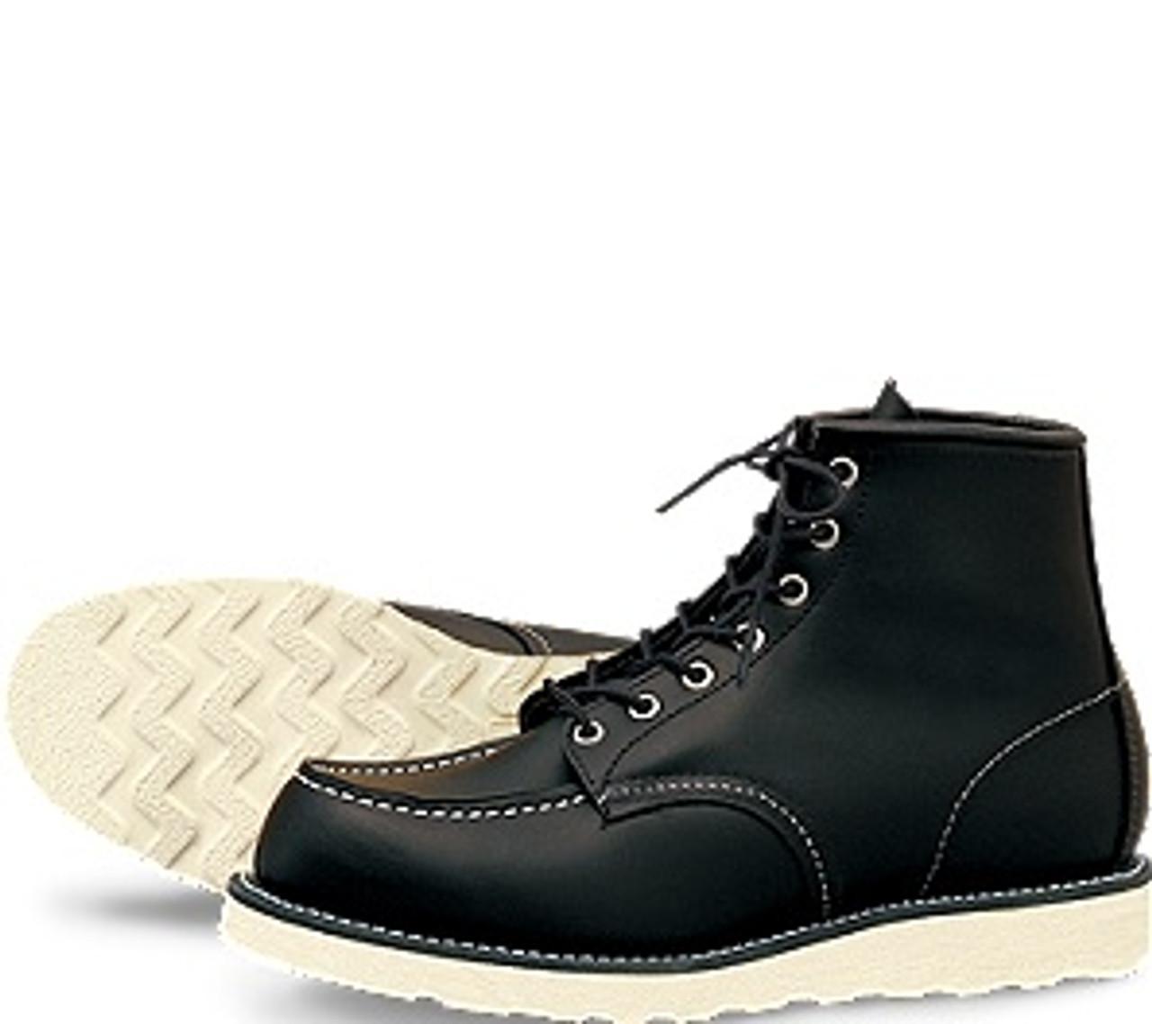 ebeb890b8cd Men's Red Wing Heritage Black Moc Toe Boot