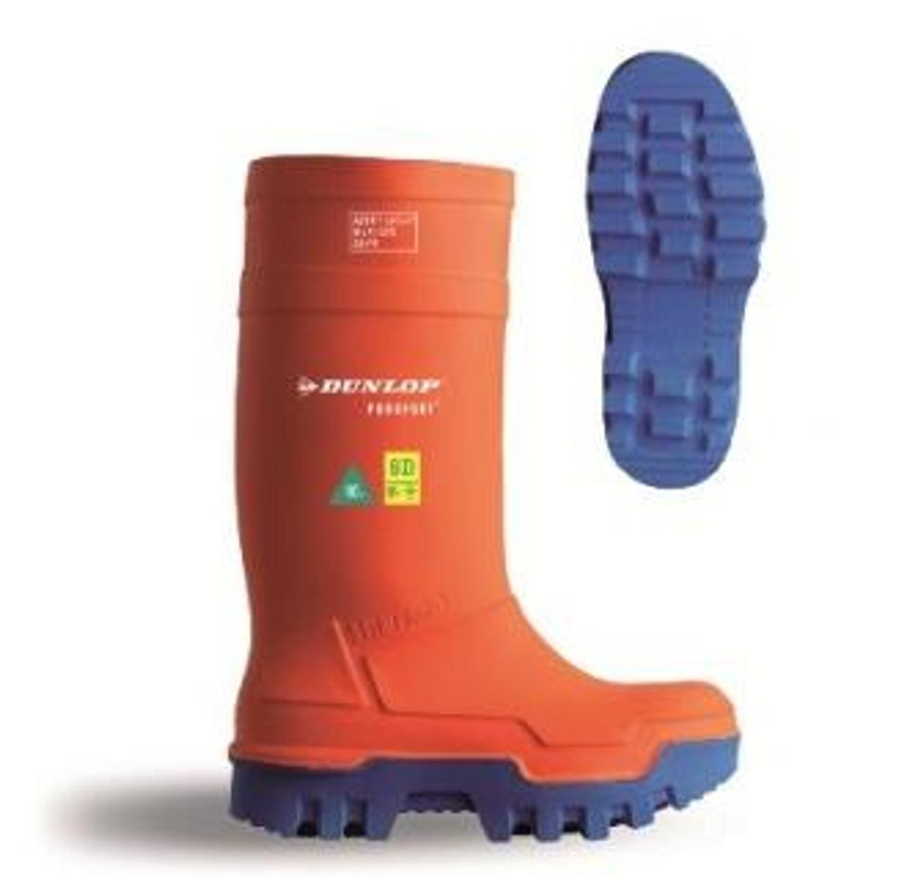 9b09282e0e7 Dunlop Purofort Thermo + Full Safety Orange Work Boot