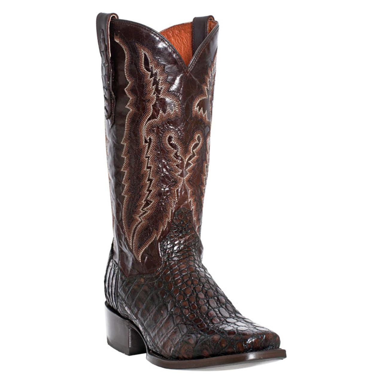 d6332bd8309 Men's Dan Post Chocolate Caiman Square Toe Western Boot