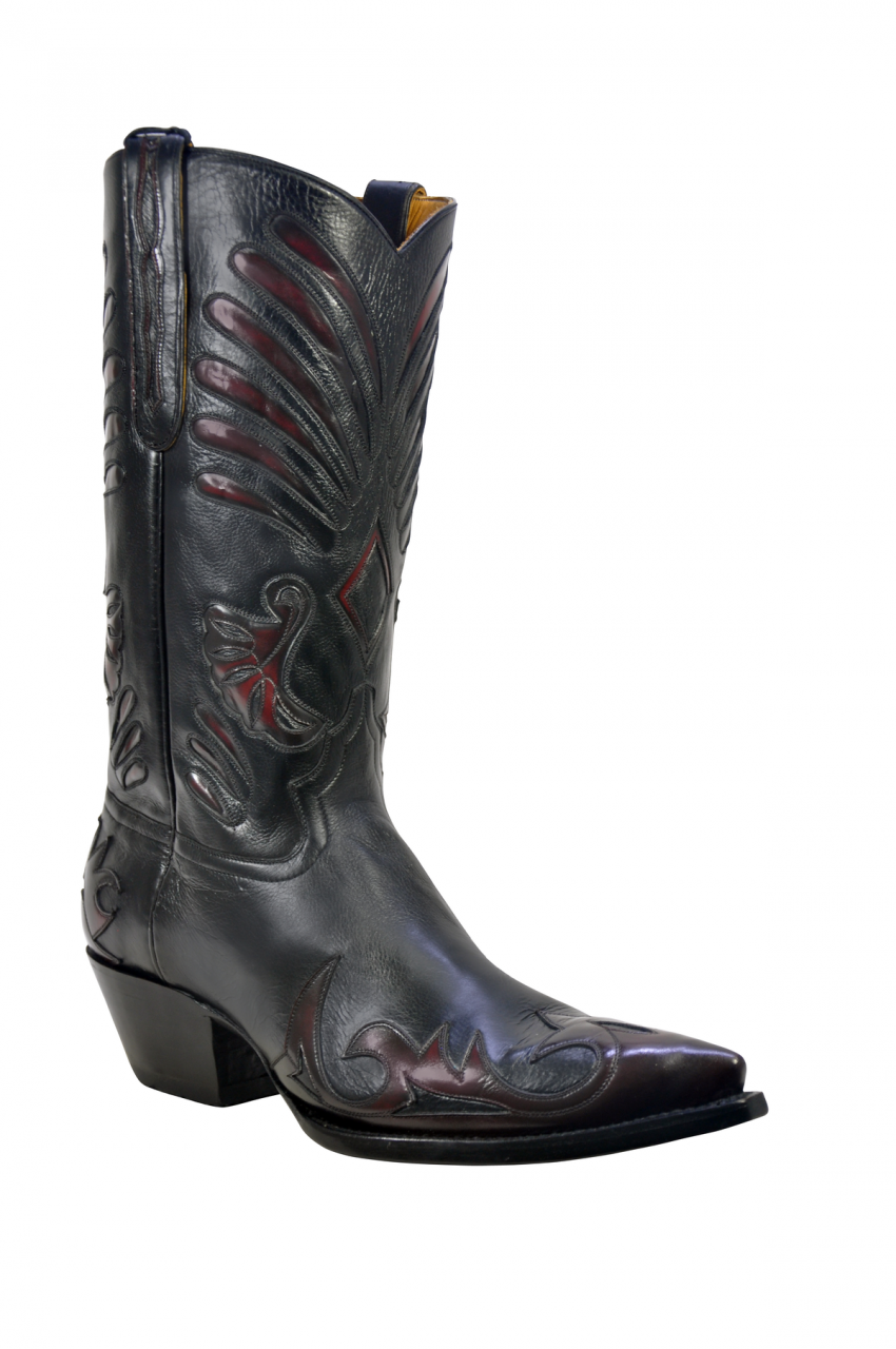 8c6aa142ae7 Men's Liberty Boot Co's Lefty Black and Black Cherry Cowboy Boot