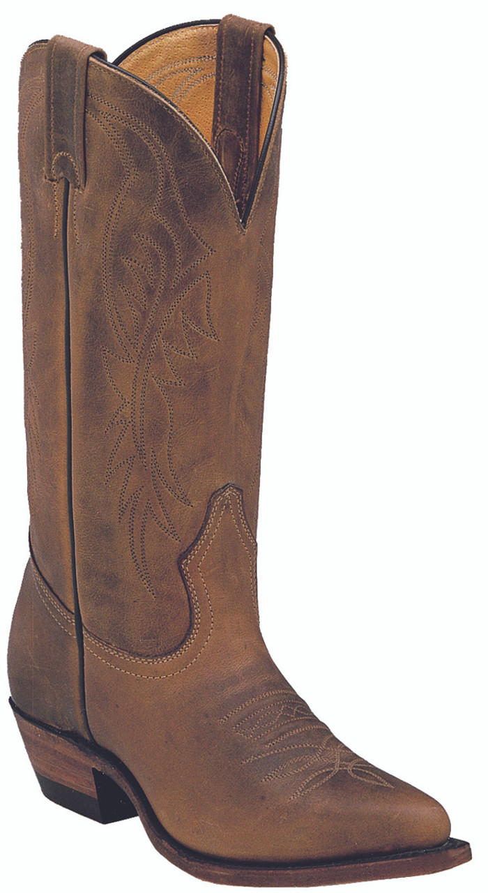 c0cfdfbc9cc Women's Boulet Oiled Brown Cowboy Toe Western Boot