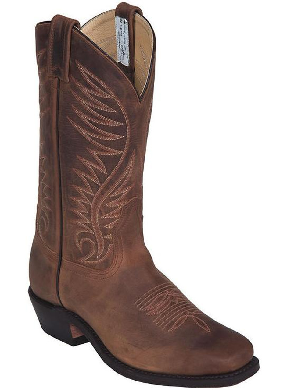 eb74b0ee880 Men's Canada West Brown Square Toe Western Boot - Herbert's Boots ...